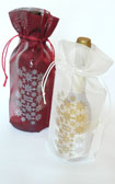 Merry Xmas Wine Bag Transluscent Tissue 10 pieces