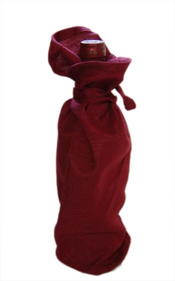 Wine Bags Raw Silk 10 pieces