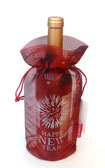 Happy New Year Fireworks Translucent Tissue Wine Bag 10 pieces