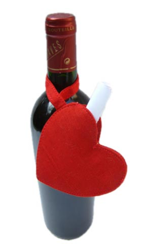 Heart Wine Bottle Envelope 10 pieces