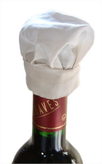 Chefs Hat for Bottle 10 pieces